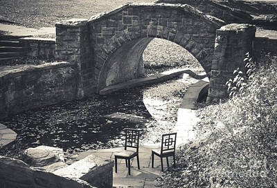 Photograph - Chairs - Stone Bridge by Colleen Kammerer