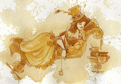 Steampunk Wall Art - Painting - Chaise by Brian Kesinger