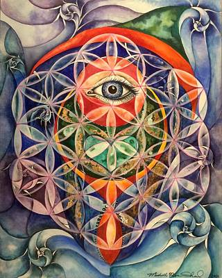 Oneness Painting - Chakra Harmony  by Michell Rosenthal