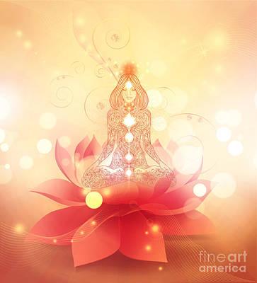 Digital Art - Chakra Healing by Mo T