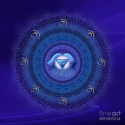 Chakra Mandala Art - Ajna Chakra Mandala By Rgiada Art Print