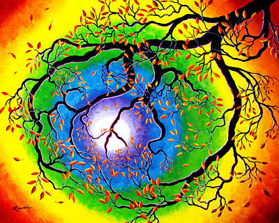 Laura Iverson Royalty-Free and Rights-Managed Images - Chakra Peace Tree Meditation by Laura Iverson