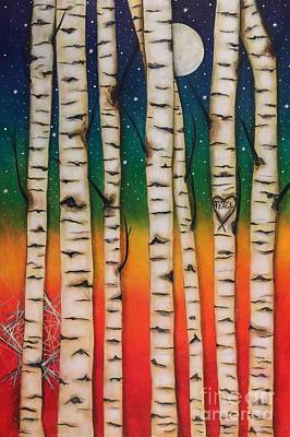 Painting - Chakra Rainbow Forest by Deborha Kerr