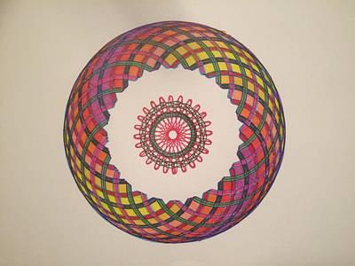 Atom Mixed Media - Chakra Study 1  by Steve Sommers