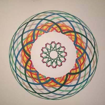 Atom Mixed Media - Chakra Study 2 by Steve Sommers