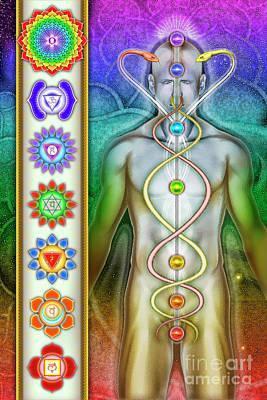 Chakra System Art Print by Dirk Czarnota