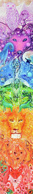 Chakra Rainbow Painting - Chakra Totem Rainbow Dreams by Ashleigh Dyan Bayer