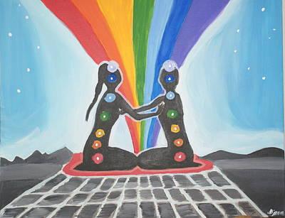 Chakra Rainbow Painting - Chakra Union by Djana Fahryeva