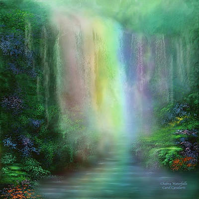 Chakra Waterfalls Art Print by Carol Cavalaris