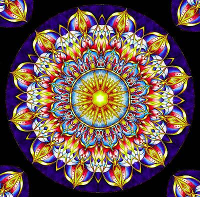 Digital Art - Chakra Zendala by Barbara A Lane
