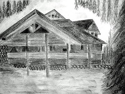 Drawing - Chalet Alpine Francaise by Michael Canning