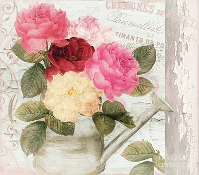 Chalet D'ete Roses Art Print