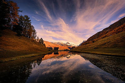 Photograph - Chalet With An Autumn View by Dominique Dubied