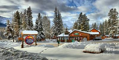 Photograph - Chalets At Castle Mountain by Adam Jewell