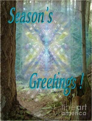 Digital Art - Chalice-tree In The Forest V2 Holiday Card by Christopher Pringer