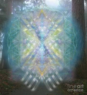 Chalice-tree Spirit In The Forest V1 Art Print by Christopher Pringer