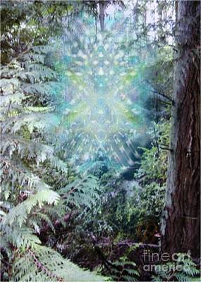 Digital Art - Chalice-tree Spirit In The Forest V3 by Christopher Pringer