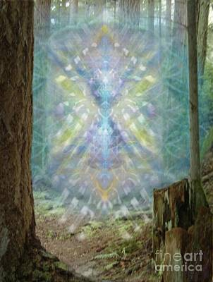 Digital Art - Chalice-tree Spirt In The Forest V2 by Christopher Pringer