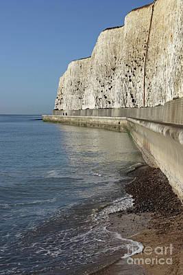 Chalk Cliffs At Peacehaven East Sussex England Uk Art Print