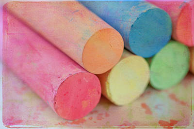 Pastel Colors Photograph - Chalk by June Marie Sobrito