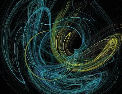 Digital Art - Chalk Outline by Mike Turner