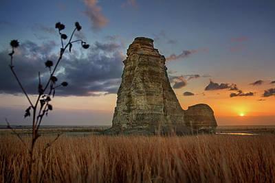 Castle Rock Photograph - Chalk Rock Rising by Thomas Zimmerman