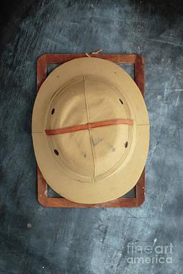 Chalkboard Pith Helmet Art Print by Edward Fielding