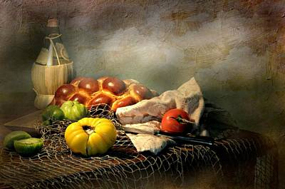 Still Life With Fish Photograph - Challah Bread by Diana Angstadt