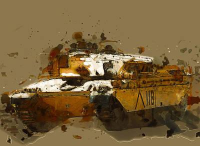 Challenger Digital Art - Challenger 1 Abstract by Roy Pedersen