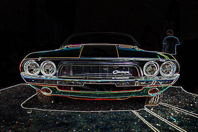 Challenger Neon Print by Darrell Foster