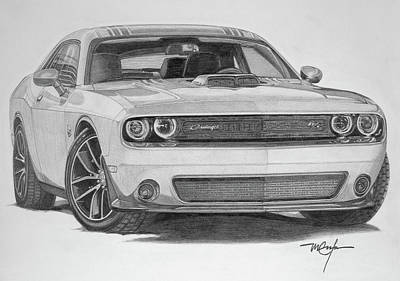 Drawing - Challenger R/t by Dan Menta