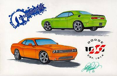 Challenger Drawing - Challenger by Scott McIntire