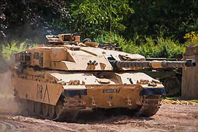 Challenger Digital Art - Challenger Tank by Roy Pedersen
