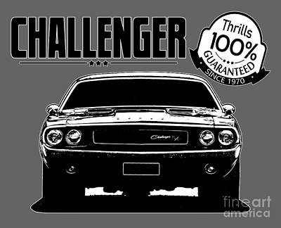 Challenger Digital Art - Challenger Thrills by Paul Kuras