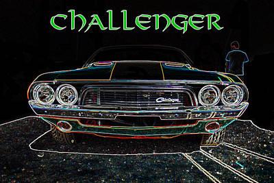 Challenger Digital Art - Challenger Wallhanger by Darrell Foster