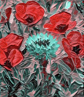 Digital Art - Challenging Flowers by Yury Malkov