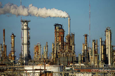 Photograph - Chalmette Refinery Stacks On The Mississippi 5 by Rick Bures