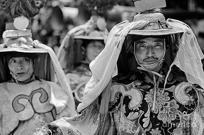 Photograph - Cham Dancers - Kham Tibet by Craig Lovell
