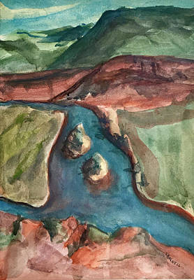 Chama River Painting - Chama River Overlook by Lynne Bolwell