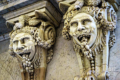 Photograph - Chamber Of Commerce Gargoyles Cadiz Spain by Pablo Avanzini