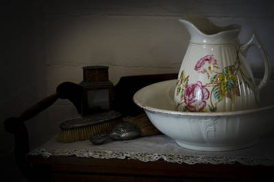 Chamber Pitcher With Basin 2 Art Print by Karen Hanley Colbert