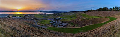 Photograph - Chambers Bay Sunset Review by Ken Stanback