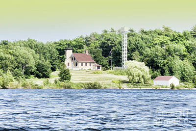 Nikki Vig Royalty-Free and Rights-Managed Images - Chambers Island Lighthouse Door County Wisconsin by Nikki Vig
