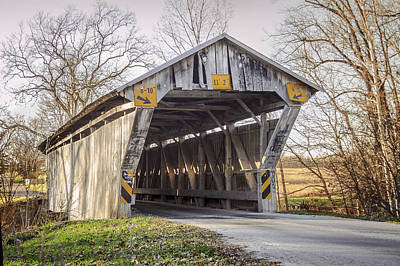 Photograph - Chambers Road Covered Bridge by Jack R Perry