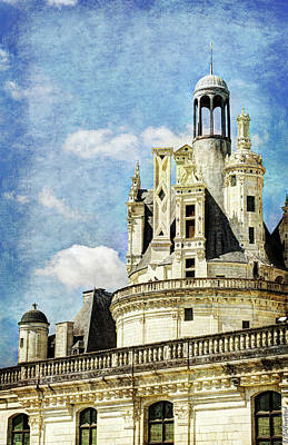 Photograph - Chambord Tower 3 - Vintage Version by Weston Westmoreland