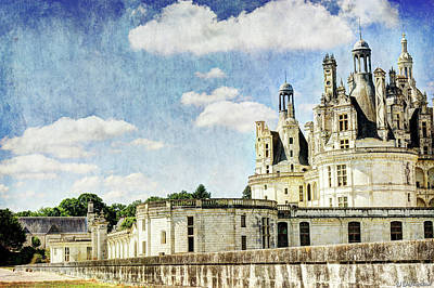 Photograph - Chambord Towers 2 - Vintage Version by Weston Westmoreland