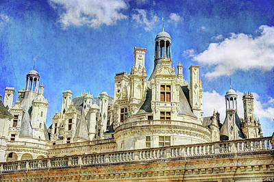 Photograph - Chambord Towers 3 - Vintage Version by Weston Westmoreland