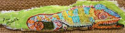 Mixed Media - Chameleon by Ann Michelle Swadener