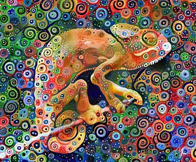 Digital Art - Chameleon Pro by Yury Malkov