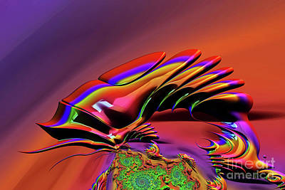 Digital Art - Chameleon Rainbow by Steve Purnell